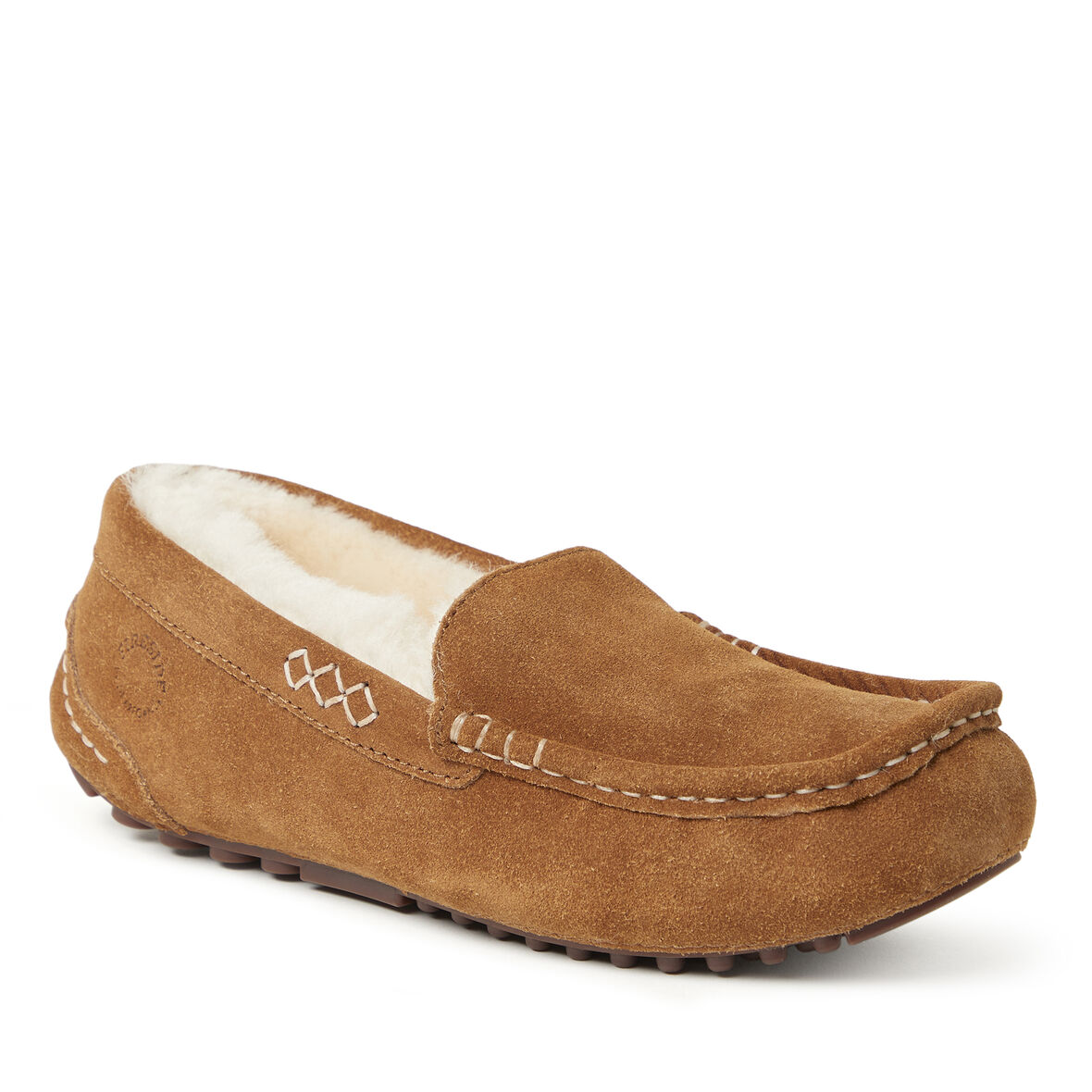 Details about  / Dearfoams  Shearling Moccasin Style  Slippers New With Tags Free Shipping