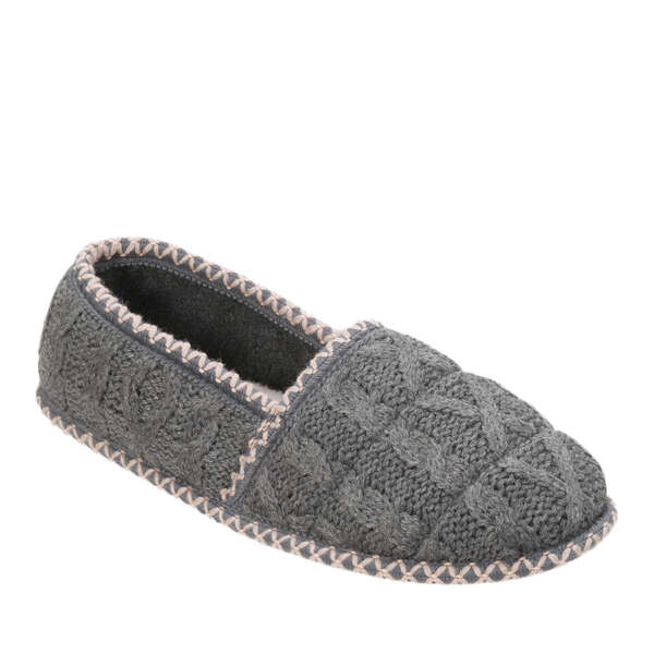 Women's Quilted Cable Knit Closed Back