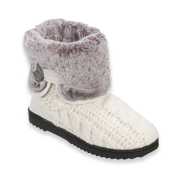 Women's Cable Knit Boot with Plush Cuff