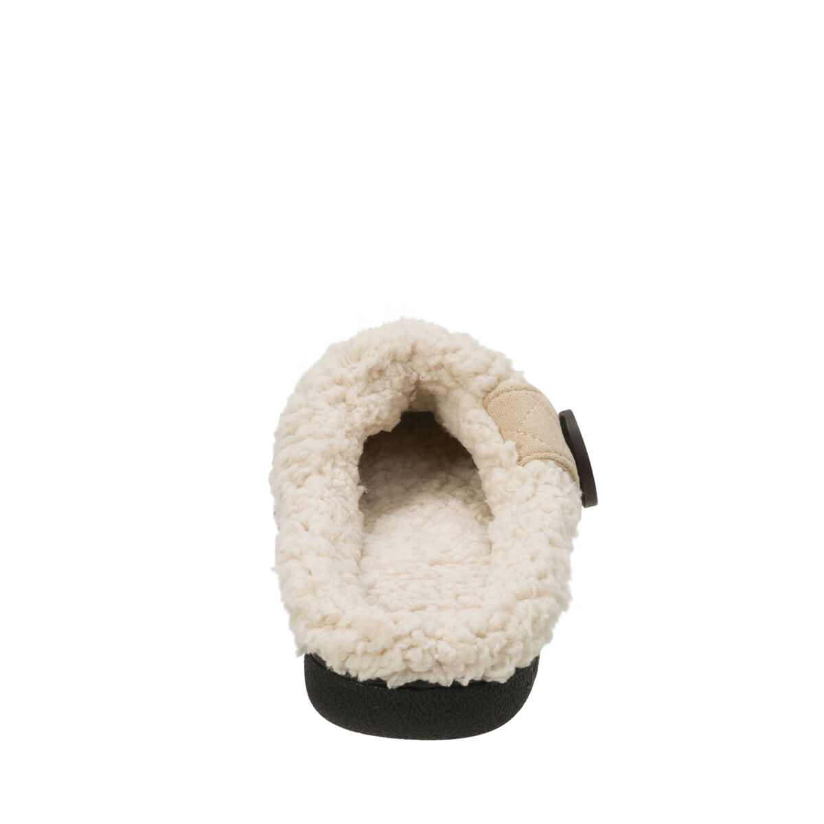 Women's Wide Width Microsuede Clog with Button Tab
