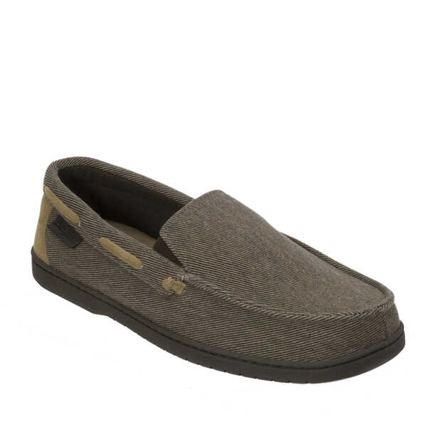 Men's Twill Moccasin with Memory Foam