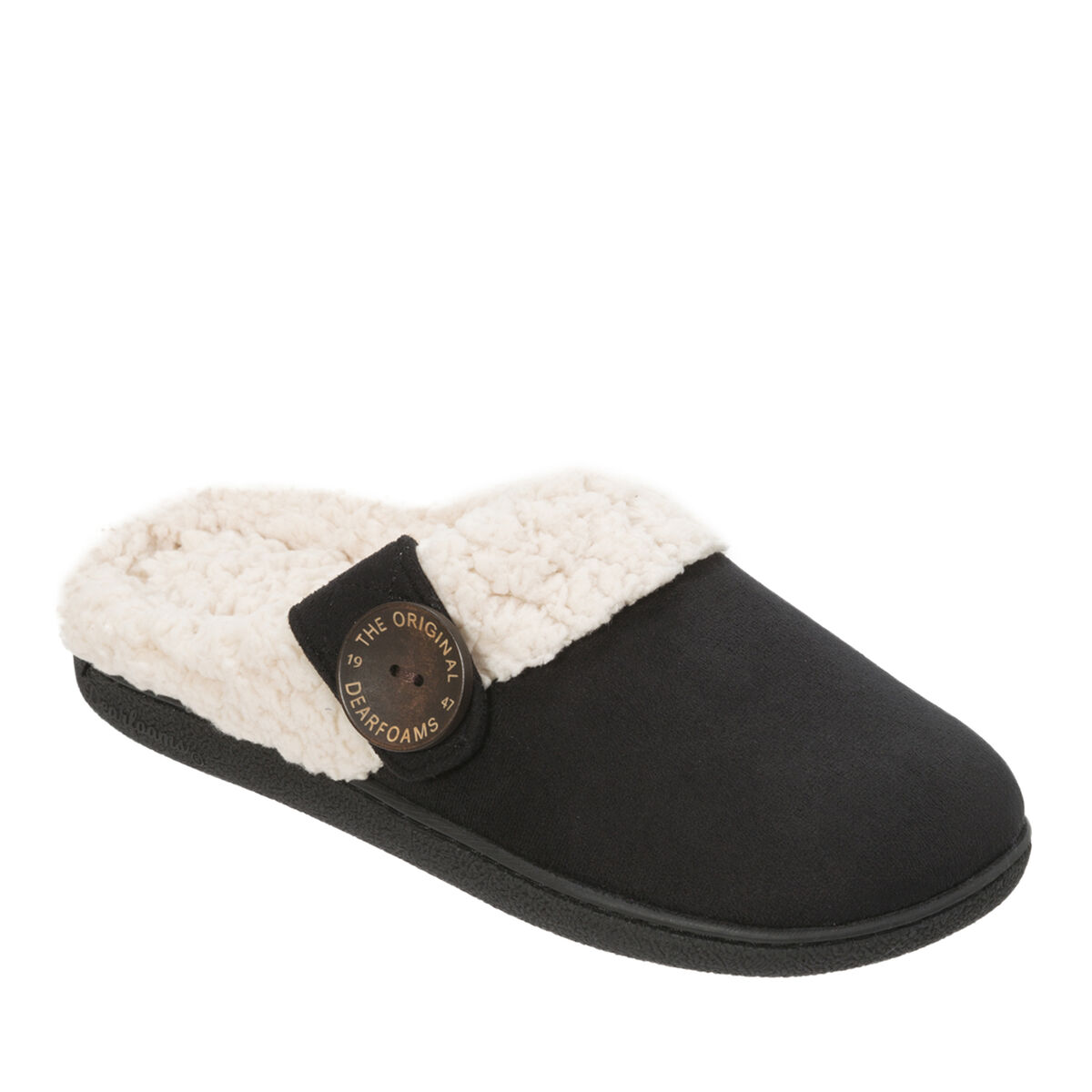 Women's Microsuede Clog with Button Tab