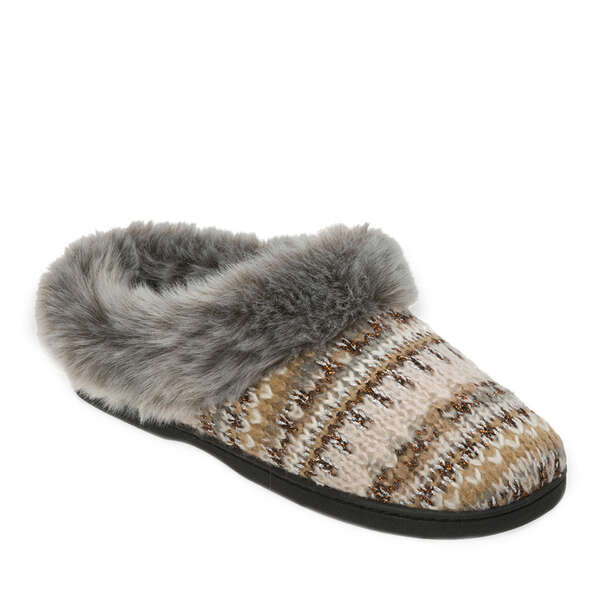 Women's Pattern Knit Clog with Lurex