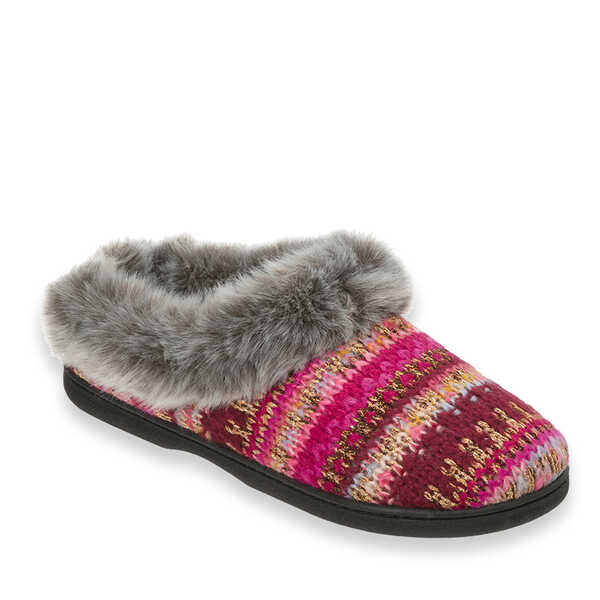 Pattern Knit Clog with Lurex