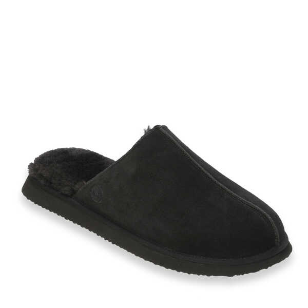 Men's Genuine Suede Coverstitch Closed Toe Scuff