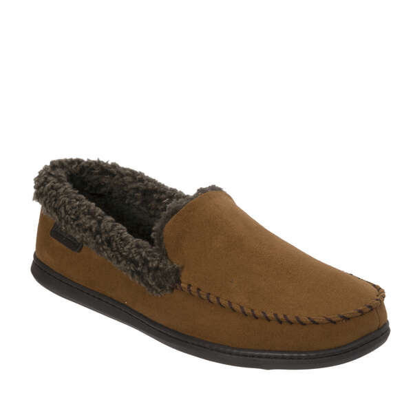 Men's Microfiber Suede Moccasin with Whipstitch