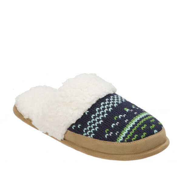 Patterned Knit Closed T Scuff