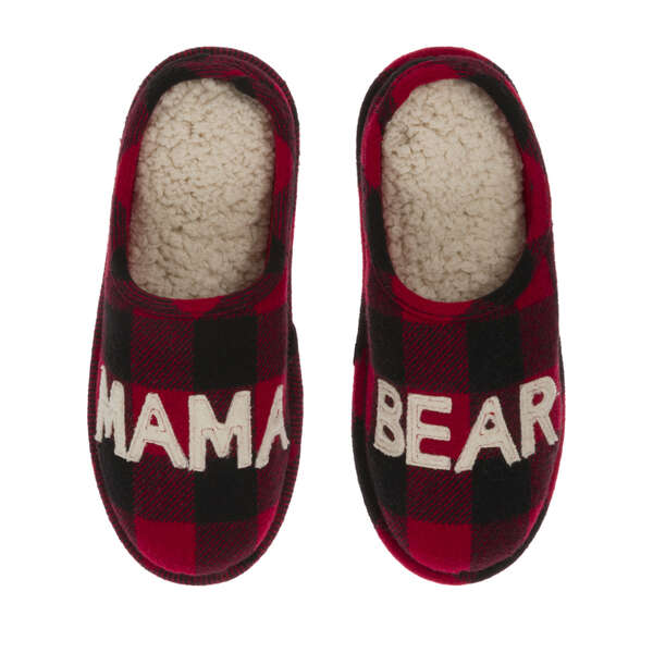 Women's Mama Bear Buffalo Check Clog Slipper