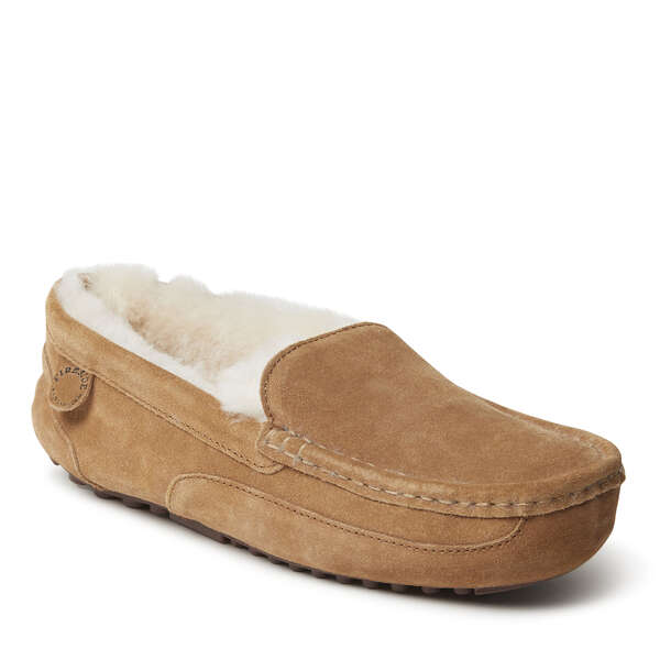 Men's Melbourne Genuine Shearling Moccasin Slipper