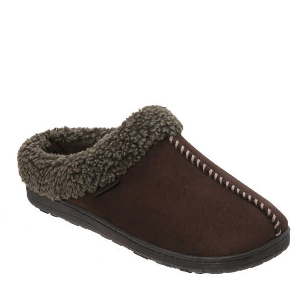 afe7fe0214f Men s Wide Width Microsuede Clog with Whipstitch