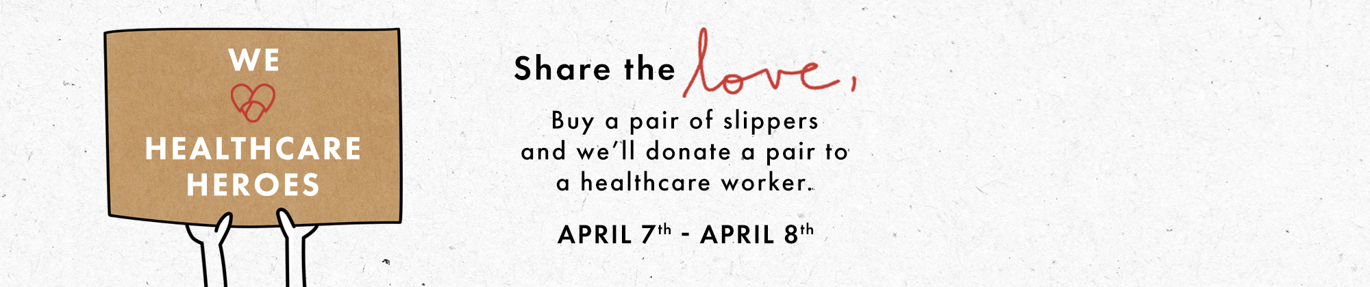 share the love, buy one give one