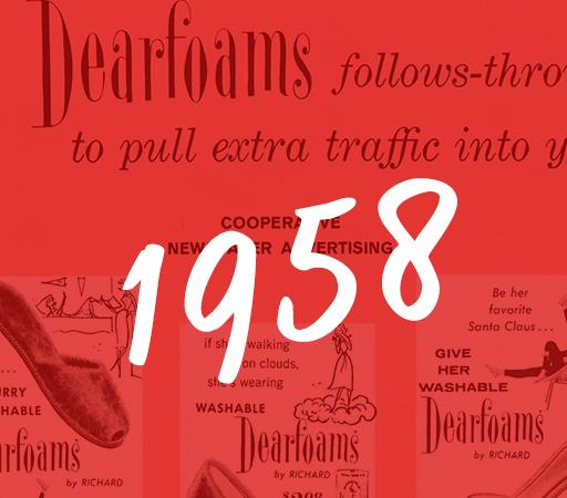 1958 Dearfoams History