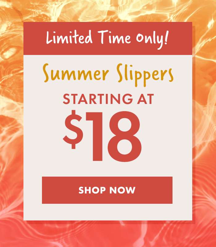 summer slippers starting at $18