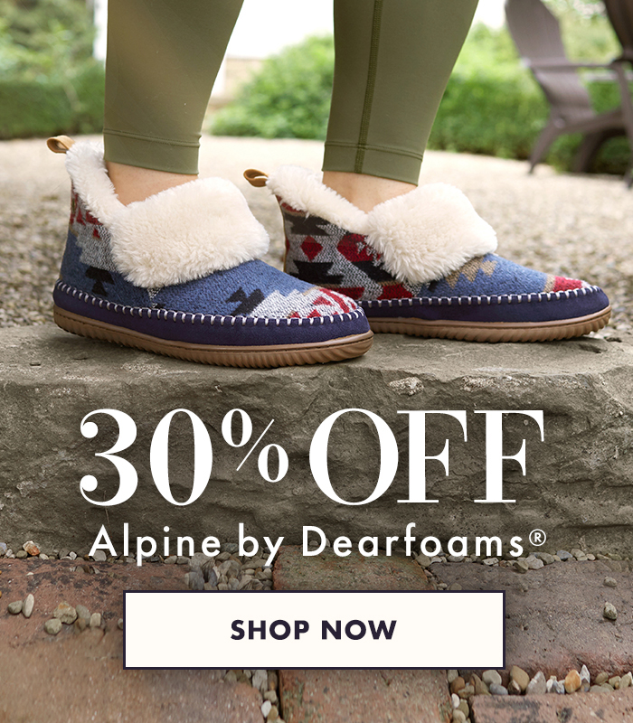 30% off alpine by dearfoams