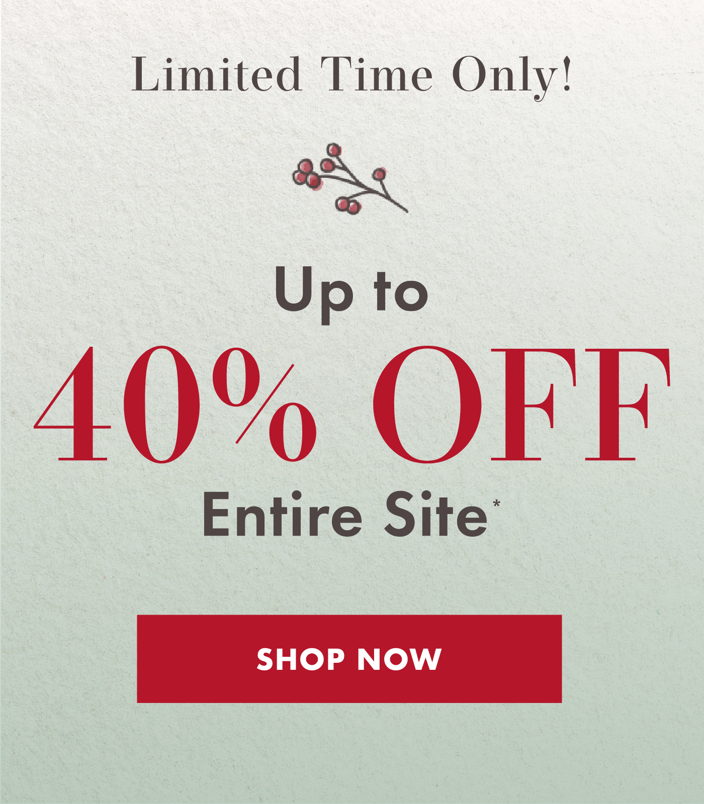 40% off entire site