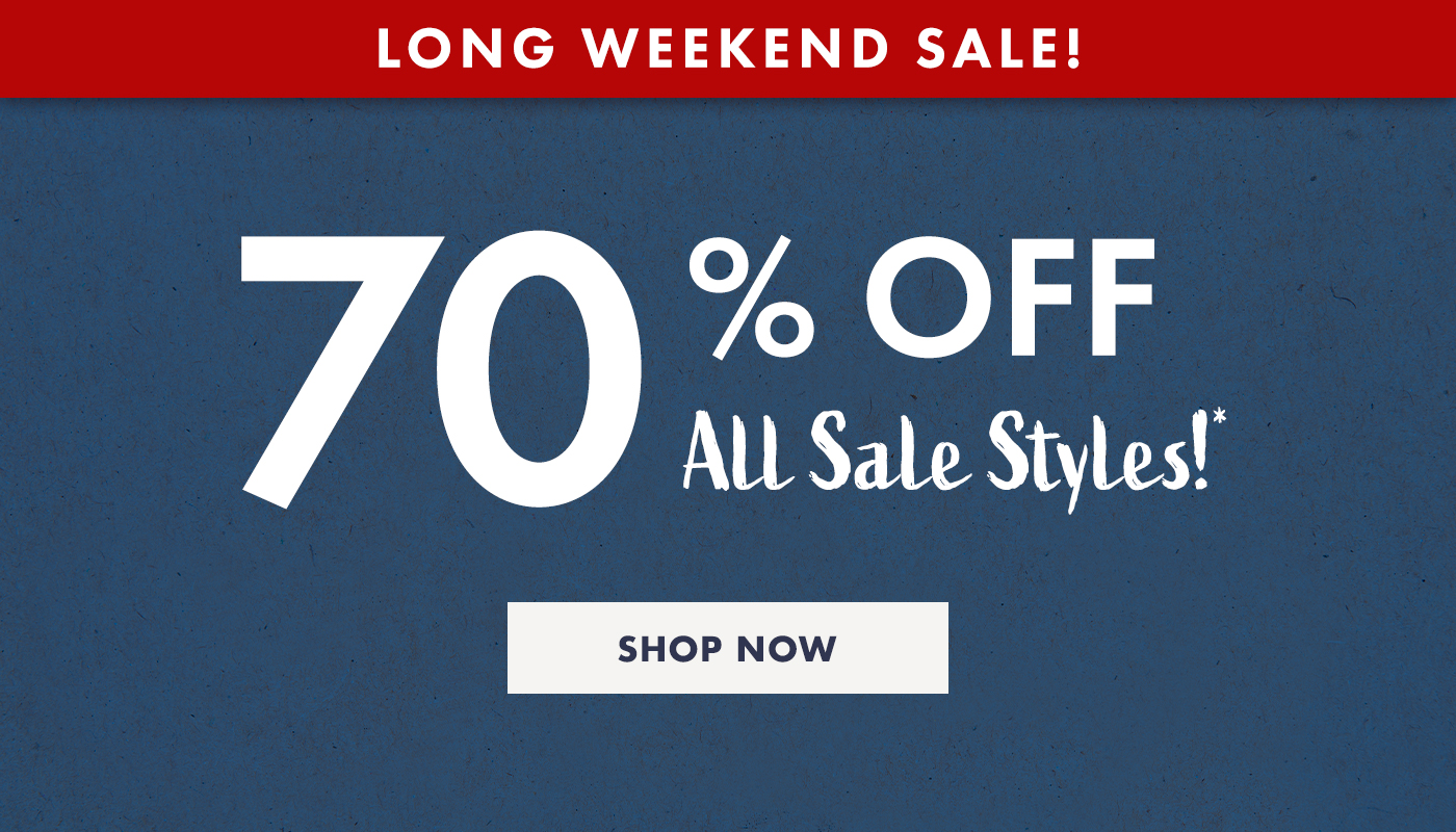 70 percent off all sale styles